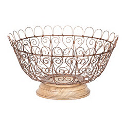 Bronze Wire Fruit Basket