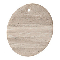 Round Brown Marble Cutting Board