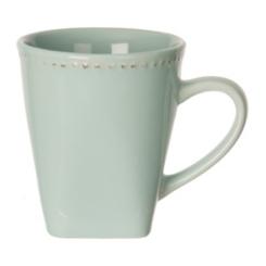 Aqua Beaded Edge Mug