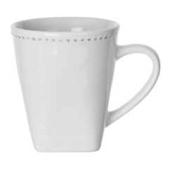 White Beaded Edge Mug