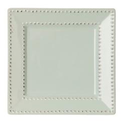 Aqua Beaded Edge Square Salad Plate