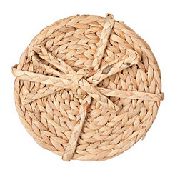 Woven Round Bamboo Trivets, Set of 4