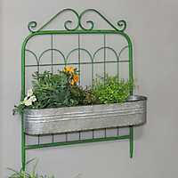 Green Metal Gate Metal Wall Planter