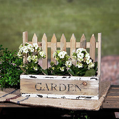 Picket Fence Lattice Garden Planter