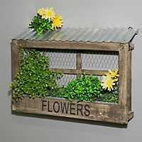 Mesh Window Lattice Flower Planter
