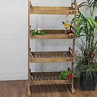 4-Tier Wooden Standing Shelves