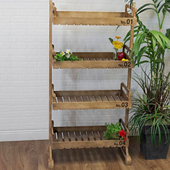 4-Tier Wooden Standing Shelves