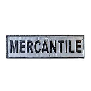 Vintage Metal Mercantile Sign