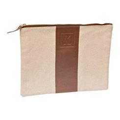 Monogram Leather K Cosmetic Bag