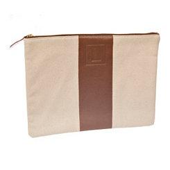 Monogram Leather L Cosmetic Bag