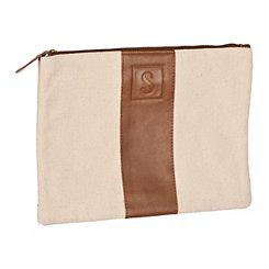 Monogram Leather S Cosmetic Bag