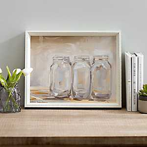 Mason Jars Framed Art Print