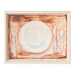 Place Setting Framed Art Print