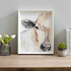 Watercolor Cow Framed Art Print