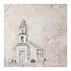 Neutral Church Canvas Art Print