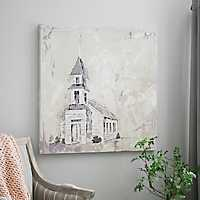 Neutral Church Canvas Art Print