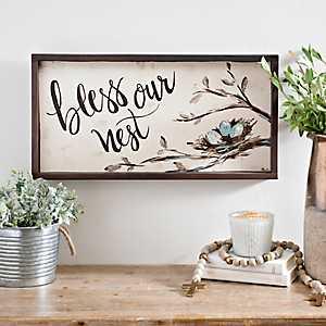 Bless Our Nest Framed Art Print
