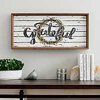 Shiplap Grateful Wreath Framed Art Print