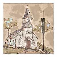 Blessed Church Canvas Art Print