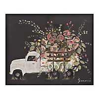 Flower Truck Canvas Art Print