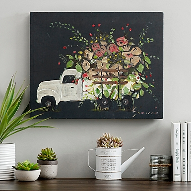 Flower Truck Canvas Art Print. Canvas Prints   Canvas Art   Kirklands