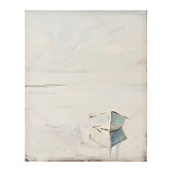 Lonely Boat Canvas Art Print