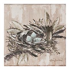 Bird Nest Canvas Art Print