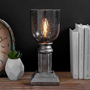 Gray Seeded Glass Edison Bulb Uplight