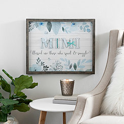 Blue and Gray Mimi Shadowbox