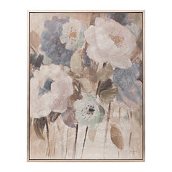 Elegant Flowers Framed Canvas Art Print