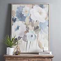 Elegant Flowers Framed Canvas Art Print
