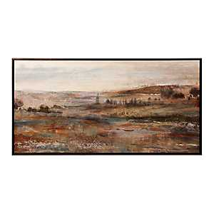 Open Fields Framed Canvas Art Print