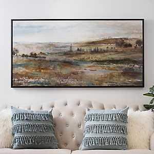 Open Fields Framed Canvas Art Print