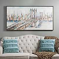 City Bridge Framed Art Print