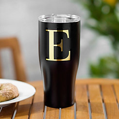 Black Stainless Steel Monogram Tumbler