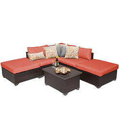 Tangerine Cove Bay Outdoor Seating Set, Set of 6