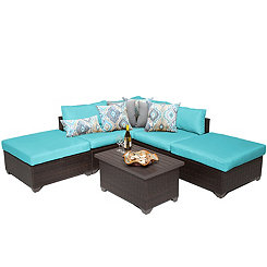 Turquoise Cove Bay Outdoor Seating Set, Set of 6
