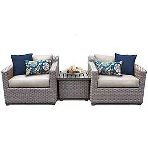 Cascade Beige Outdoor Seating Set, Set of 3