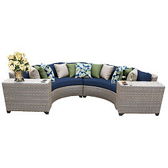 Cascade Navy Outdoor Seating Set, Set of 4