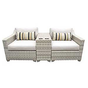 Laguna Beige Outdoor Seating Set, Set of 3