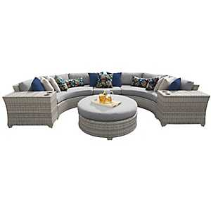 Laguna Gray Outdoor Seating Set, Set of 6