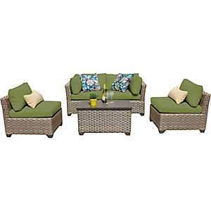 Aruba Cilantro Outdoor Seating Set, Set of 5