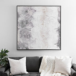 Monochrome Abstract Large Framed Canvas Art Print