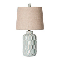Mercer Blue Ceramic Table Lamp