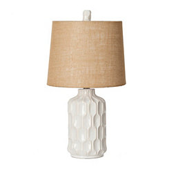 Mercer White Ceramic Table Lamp