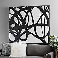 Black Journey Framed Canvas Art Print