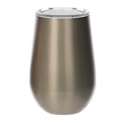 Gold Metal Stemless Wine Tumbler