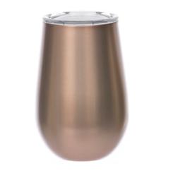 Rose Gold Metal Stemless Wine Tumbler