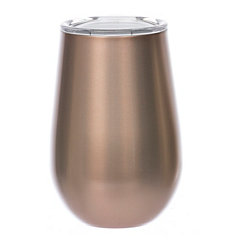 Rose Gold Metal Stemless Wine Tumbler