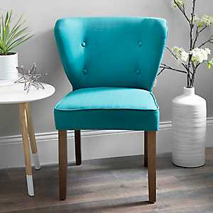 Peacock Blue Dylan Carribean Accent Chair